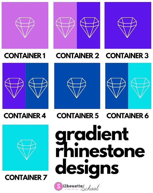 silhouette cameo rhinestones, rhinestones, gradient rhinestones, rhinestone series, silhouette rhinestones
