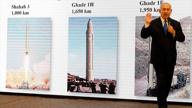 """Netanyahu mete la pata en su """"show"""" sobre misiles iraníes"""