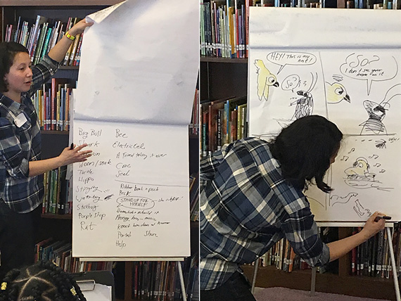 andrea tsurumi draws for students