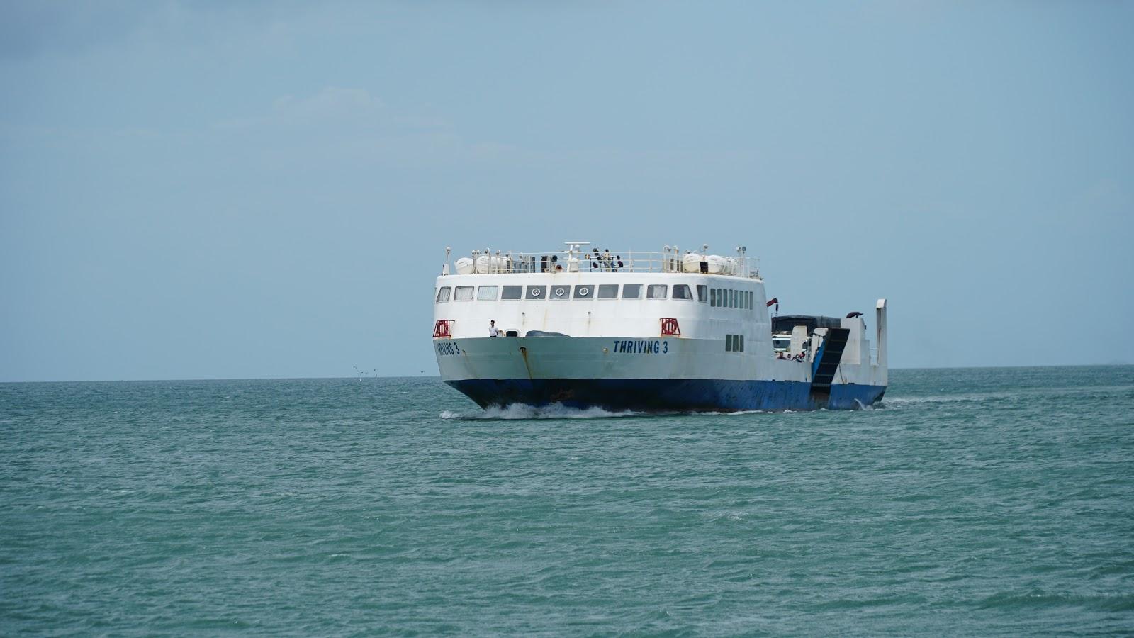 Con phà đưa chúng tôi ra Đảo Ngọc Phú Quốc