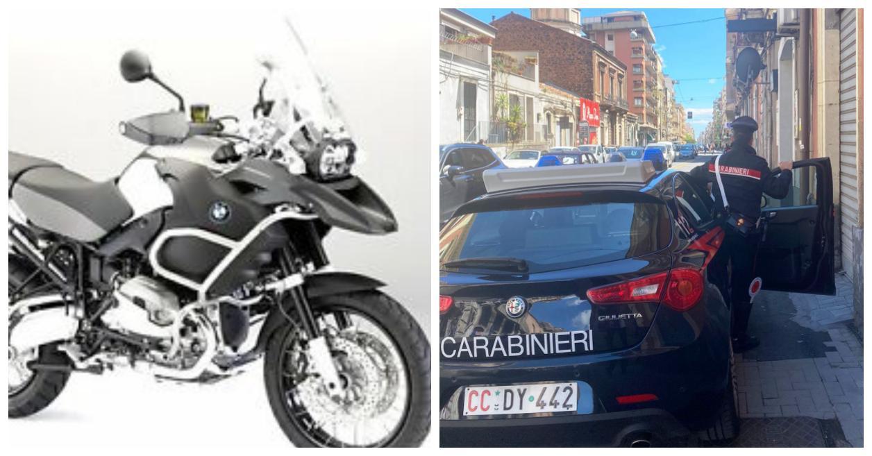 Carabinieri furto BMW GS via monserrato
