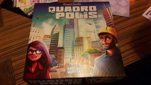 Wieczór planszówek w Żaku: Quadropolis - zasady, reguły, wrażenia