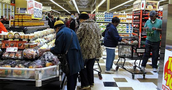 Supermarket in low income neighborhood