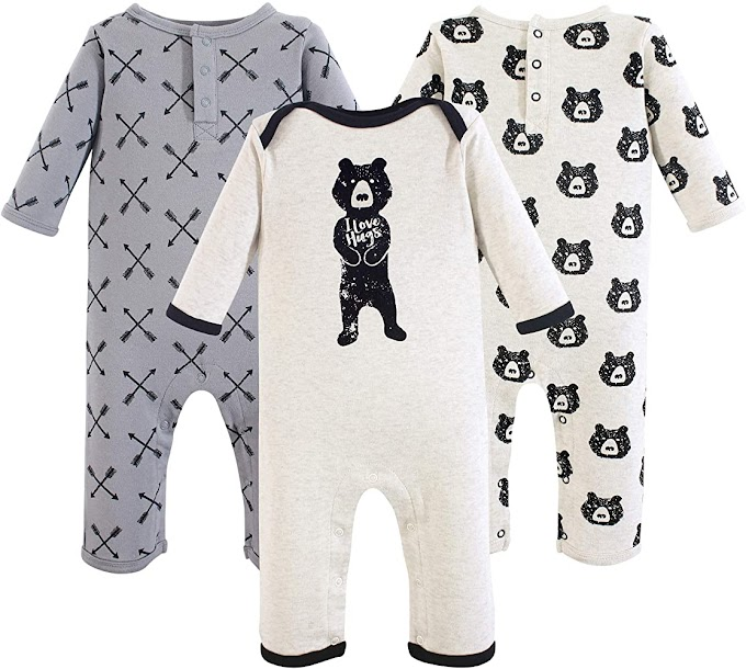Yoga Sprout Unisex Baby Cotton Coveralls