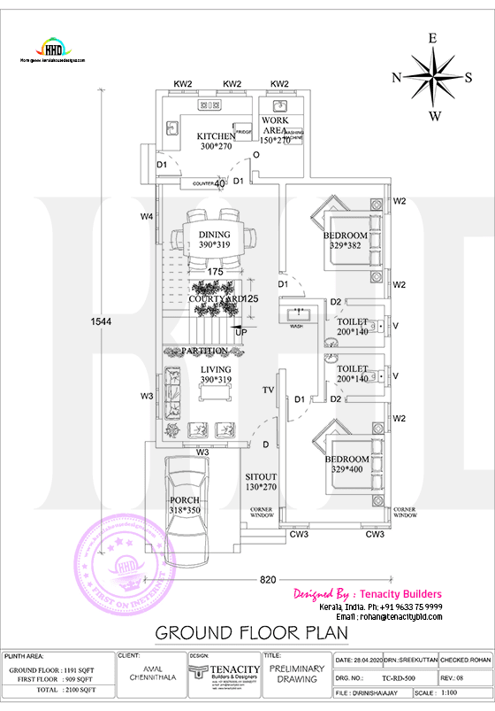 Ground floor plan of swish home