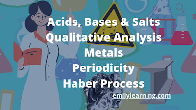 on demand O level chemistry course on acids, bases and salts, haber process to produce ammonia, metals, periodicity, qualitative analysis