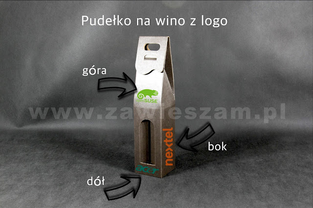 Pudełko na wino z logo Firmy