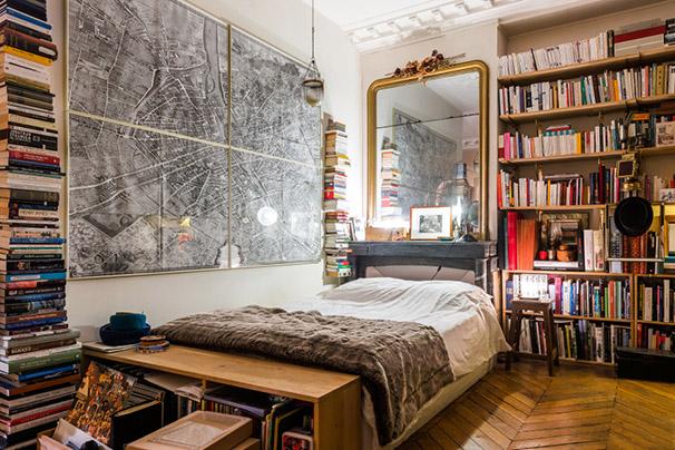 décoration vintage et chinée carte ancienne de Paris au mur