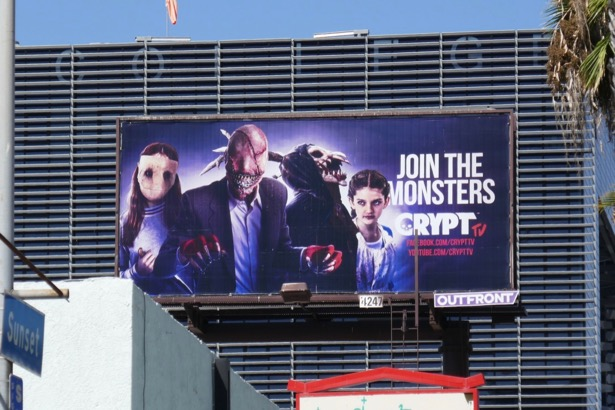 Join the monsters Crypt TV billboard