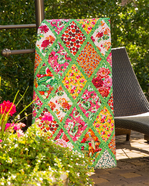 Bountiful Garden Quilt Designed By Corey Yoder for Free Spirit Fabrics, Featuring English Garden by Snow Leopard,