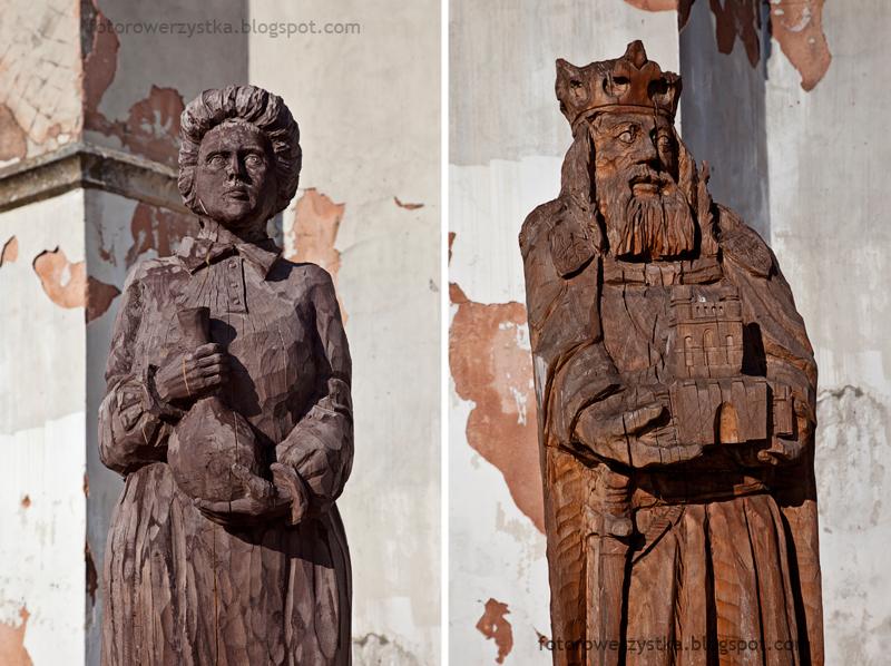 Szydłów, synagoga, drewniane rzeźby, świętokrzyskie