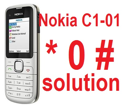 Nokia C1-01 * 0 # keypads not working solution