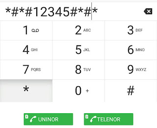 Type *#*#12345#*#* in dialpad