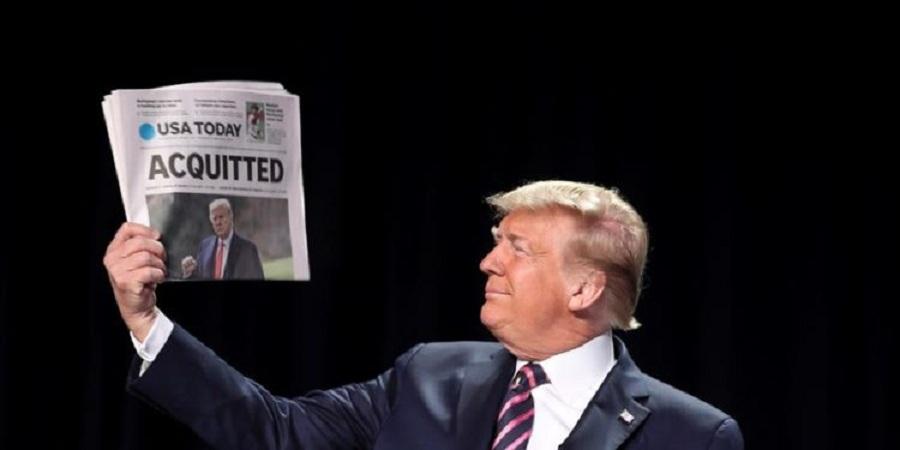 El expresidente de EE.UU. Donald Trump fue absuelto este sábado por el Senado, bajo control demócrata, de cualquier culpa en el asalto al Capitolio del 6 de enero / EFE