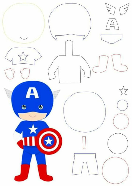Captain America Free Printable Template