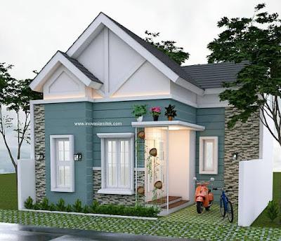 desain rumah sederhana pedesaan cantik