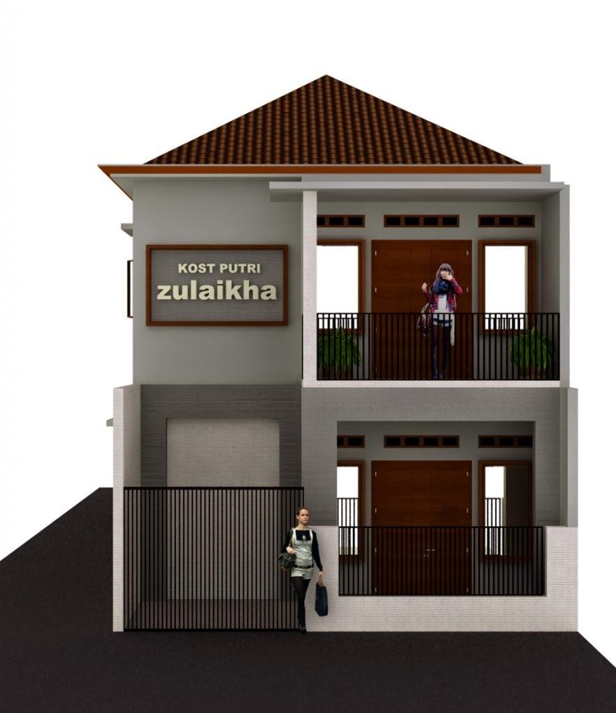Desain Arsitektur Rumah Kos Minimalis Terbaru 2014