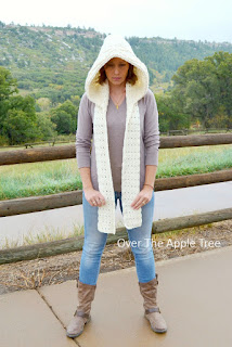Wintry Hooded Scarf, Over The Apple Tree