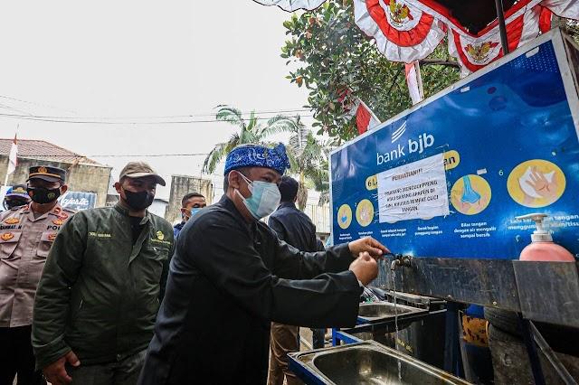 Wawali Kota Bandung Apresiasi  Pendirian Posko Mandiri Penanganan Covid-19 Oleh Pedagang Pasar Jatayu