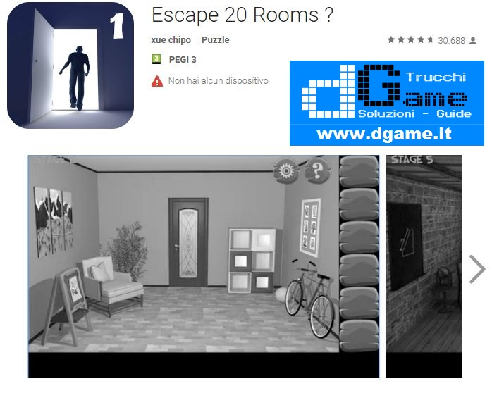 Soluzioni Escape 20 Rooms di tutti i livelli | Walkthrough guide