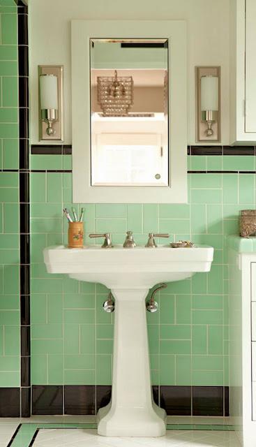 Badezimmer - Ideen zum Dekorieren in Mintgrün