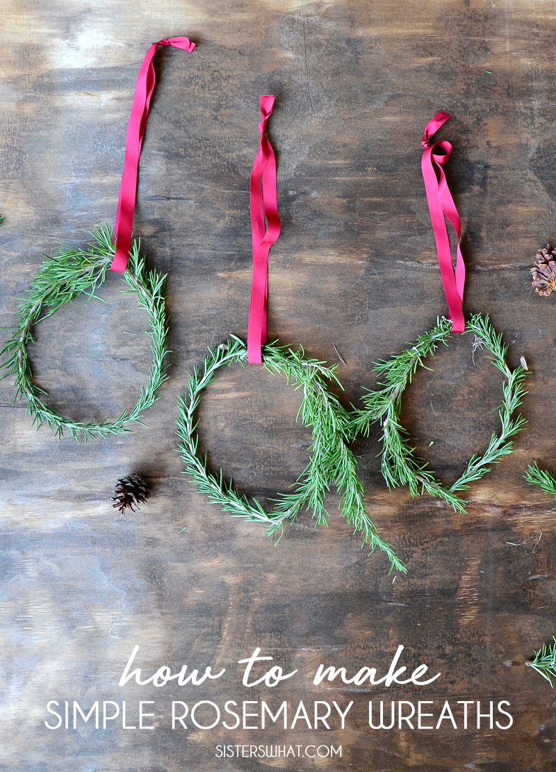 how to make rosemary wreaths easy