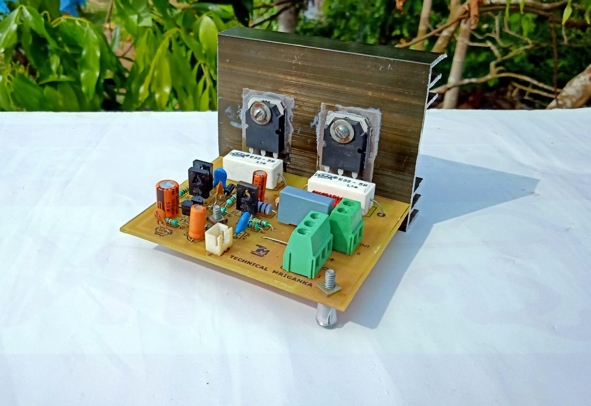 100 watts mono amplifier using TOSHIBA C5198 & A1941 ...