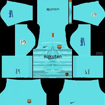Download Kit DLS Barcelona GoalKeeper Home 2019 - 2020