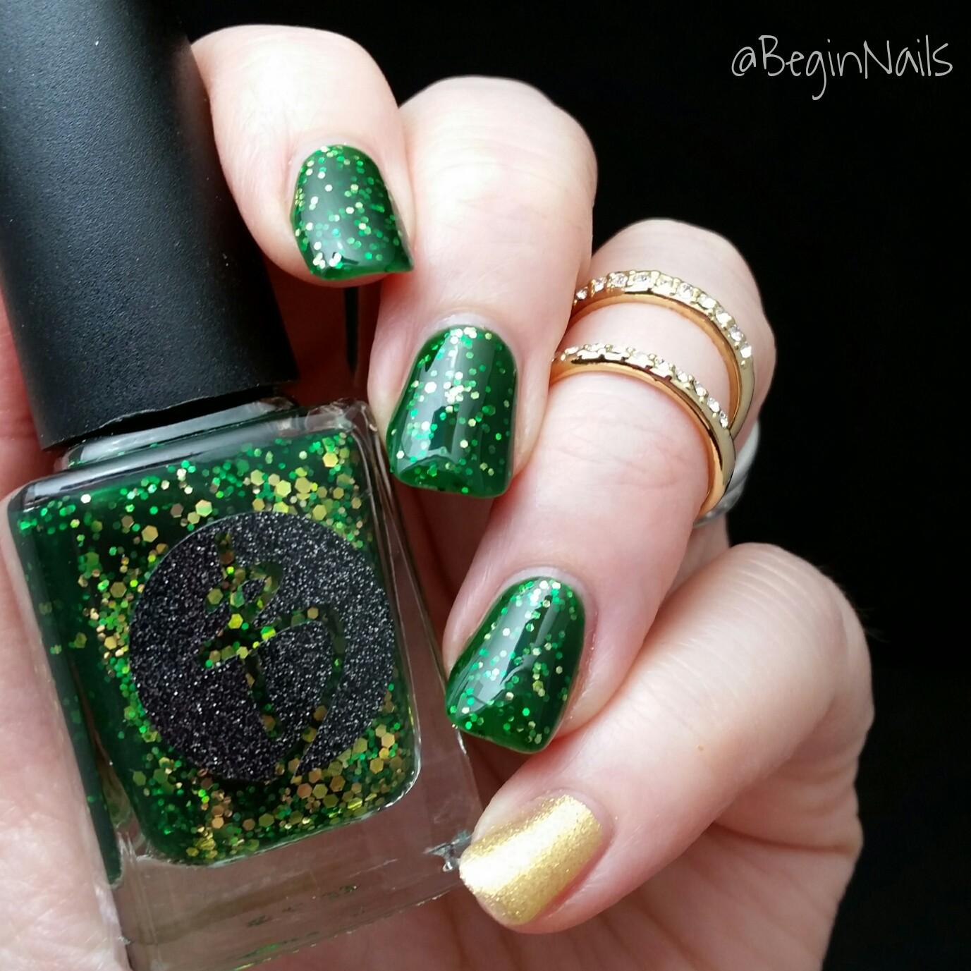 Let\'s Begin Nails: St Patrick\'s Day Nails Using Bliss Polish and ...