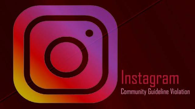Instagram Community Guideline Violation