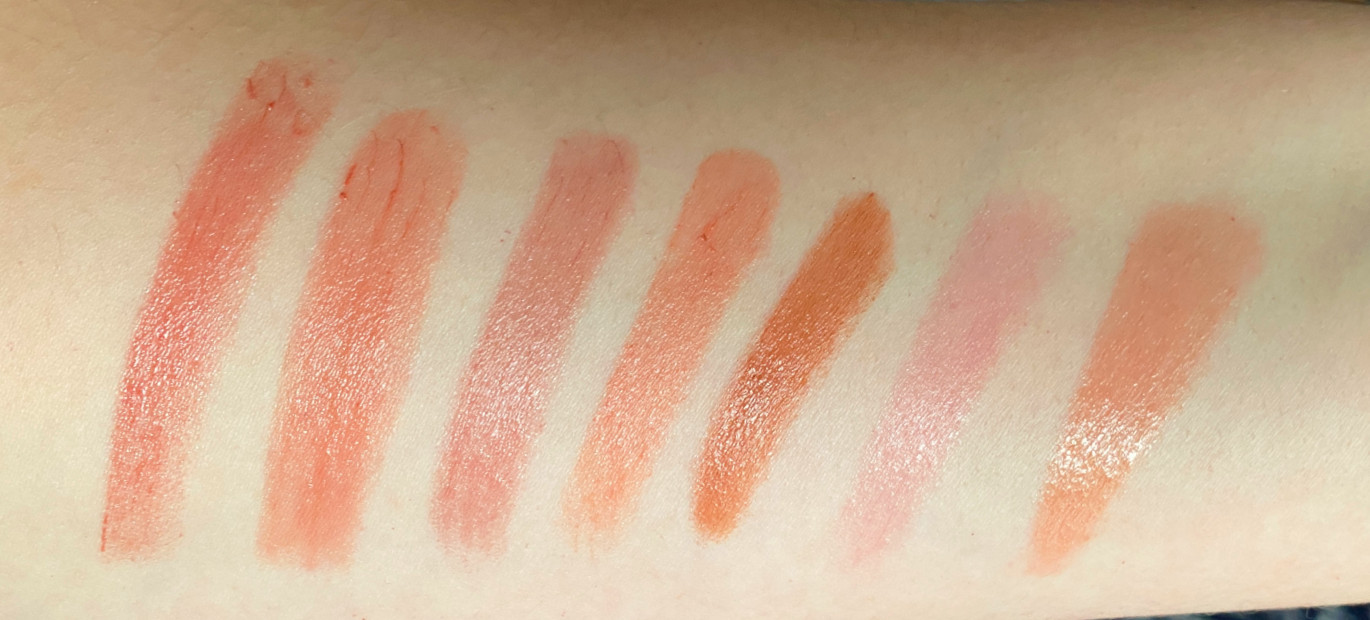 facemask proof lip balms swatches