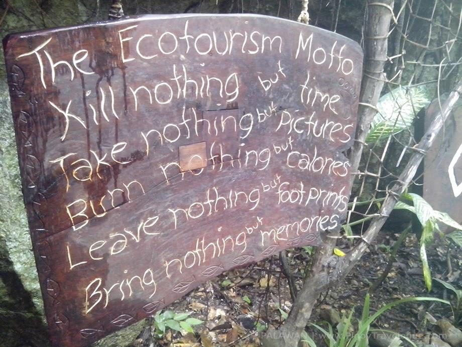 Ecotourism motto