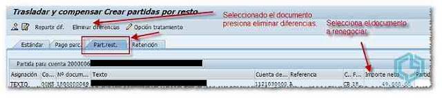 Seleccionar documento a renegociar - Consultoria-SAP