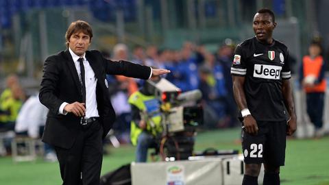 Asamoah sẽ tái ngộ với Conte ở Chelsea?