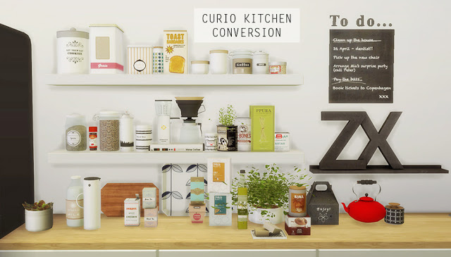 My Sims 4 Blog: TS2 Curio Kitchen Clutter Conversions by Mio