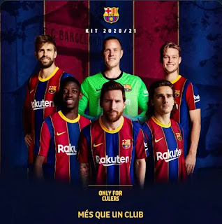 Barcelona might have hint at messi stay with home jersey promotion