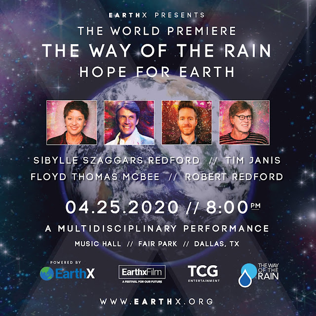 The Way of the Rain – Hope For Earth is a multidisciplinary environmental performance created and directed by Sibylle Szaggars Redford, in collaboration with Music Composer Tim Janis, Performance Film Artist Floyd Thomas McBee, with a special narration – spoken word by Robert Redford. It interprets nature's powerful beauty while calling attention to the Earth's vulnerability brought on by climate change.