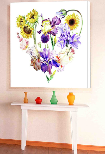 interior decoration for home and office in watercolour