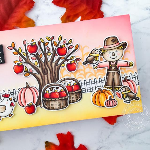 Sunny Studio Stamps: Farm Fresh Harvest Mice Bountiful Autumn Fall Themed Cards by Ashley Ebben