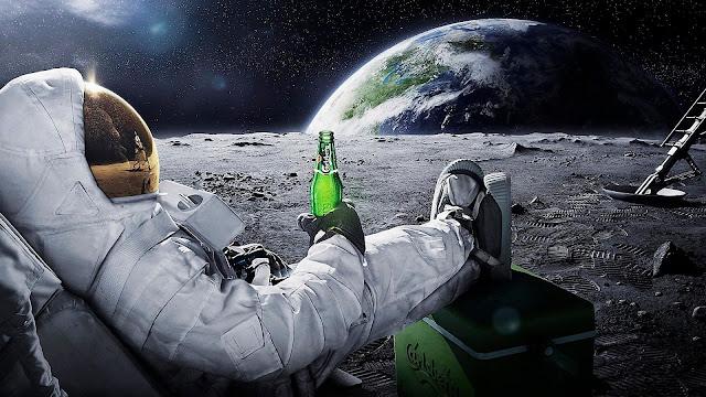Vista 3D desde la luna