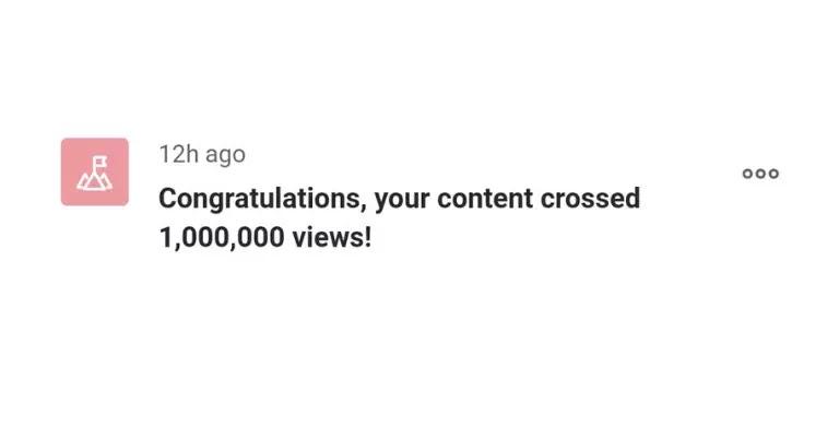 1 MILLION VIEWS ON QUORA