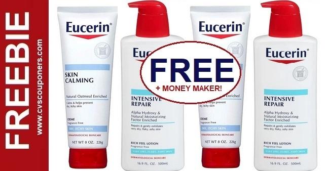 FREE Eucerin Calming Lotion at CVS 5-17-5-23