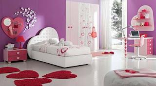 dormitorio con corazones