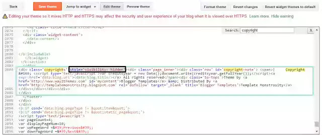 How to Remove Powered by Blogger Attribution