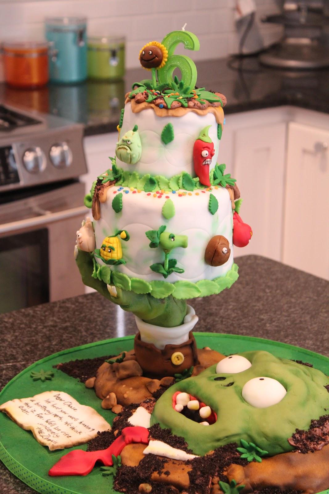 Kelli S Kakez Plants Vs Zombies Cake