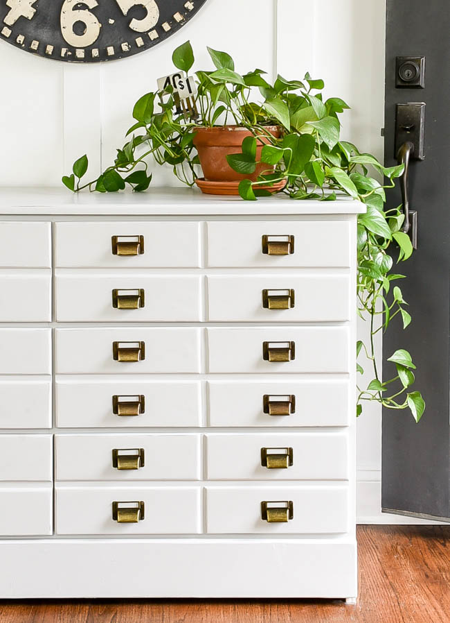 DIY apothecary cabinet drawers