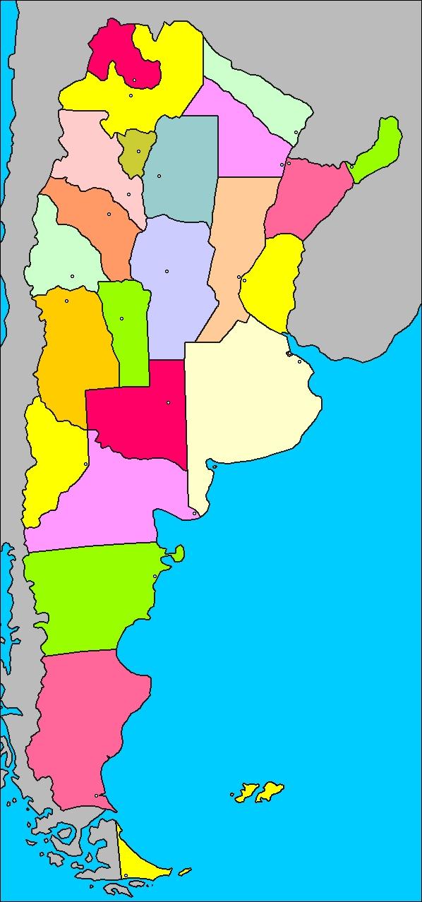 Mapas Del Mundo Mapa De Argentina Con Divisi 243 N Pol 237 Tica