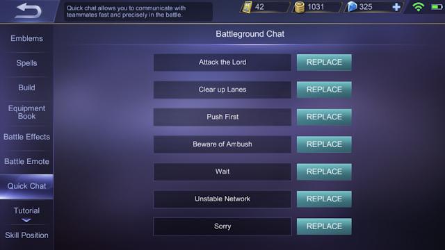 Battleground Chat Mobile Legends