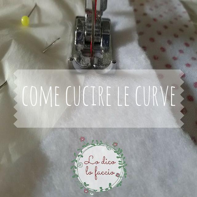 cucire curve tutorial