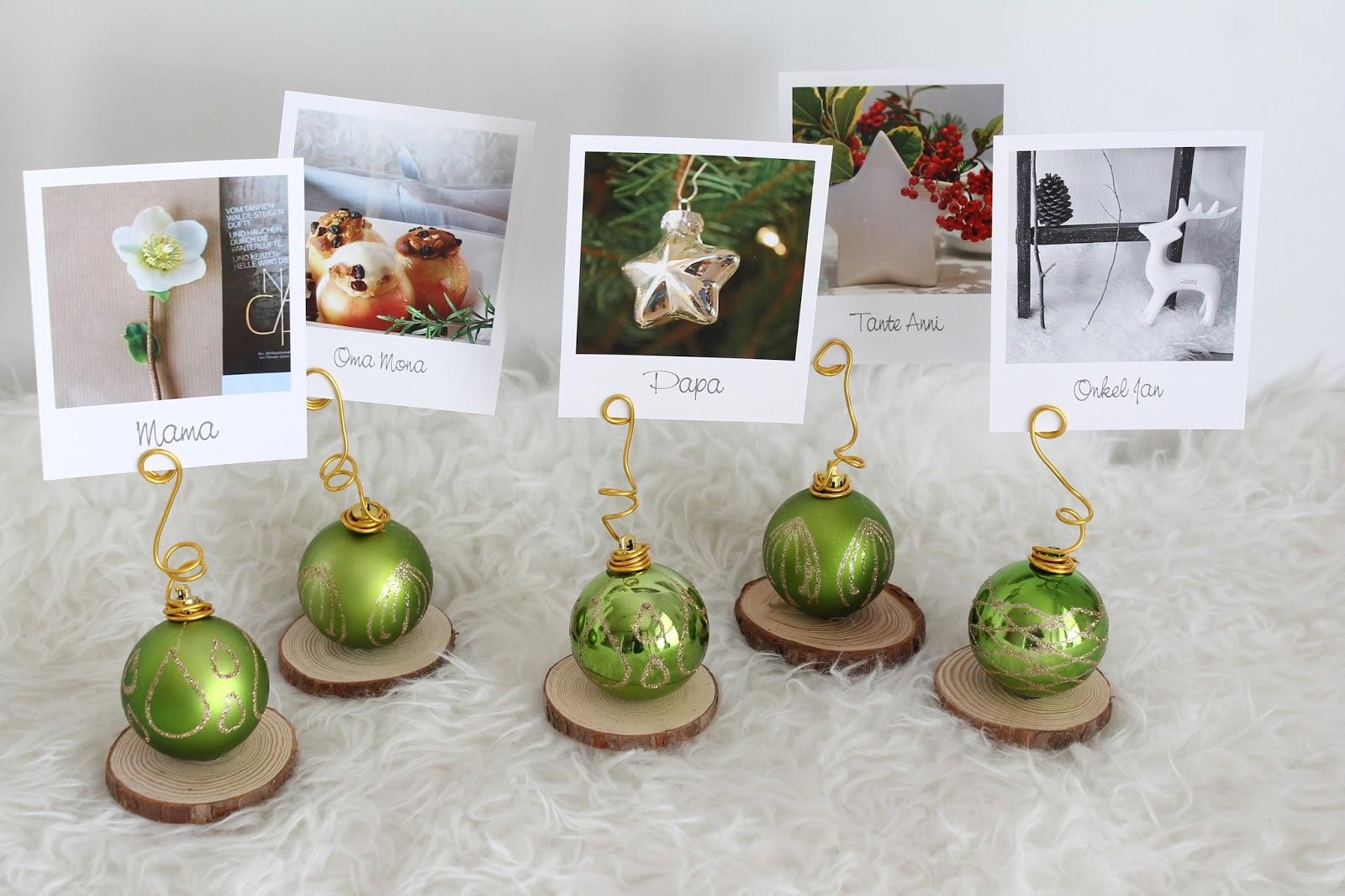 kleines freudenhaus vier weihnachtliche diy tischdeko ideen. Black Bedroom Furniture Sets. Home Design Ideas